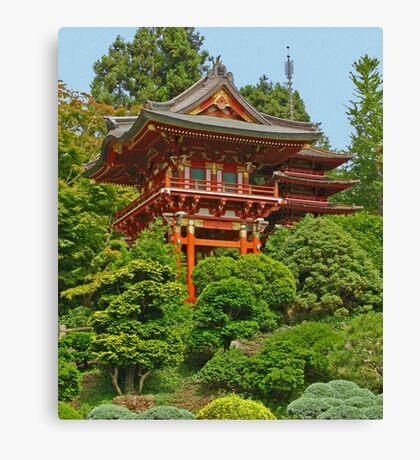 Japanese Pagoda photo painting Canvas Print