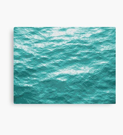 Ocean Surface photo painting Canvas Print