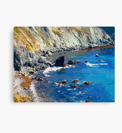 Rocky Shore photo painting Canvas Print
