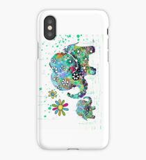 blooming elephants iPhone Case