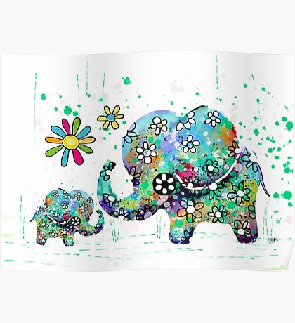 blooming elephants Poster