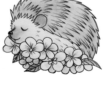 Hedgehog - Cute Hedgehog Sketch - Hedgehog Shirt - Gift For Hedgehog Lovers - Hedgehog Owners by Galvanized