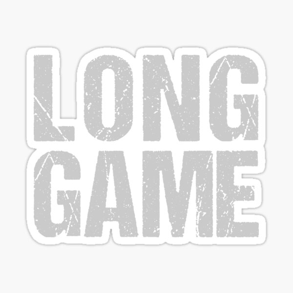 Long Game Sticker