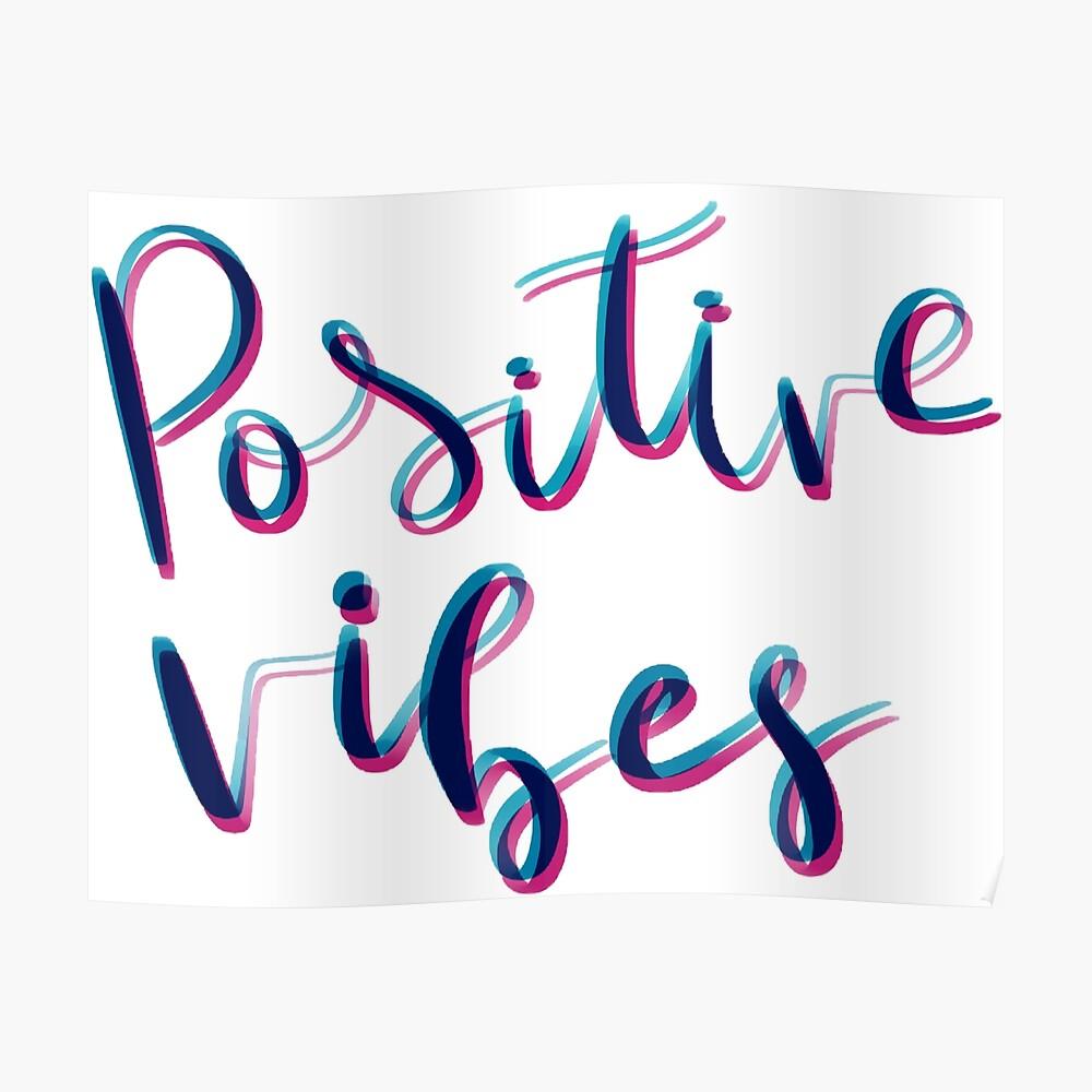 Vibras positivas Póster