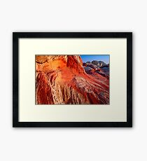 Sandstone Swirls Framed Print