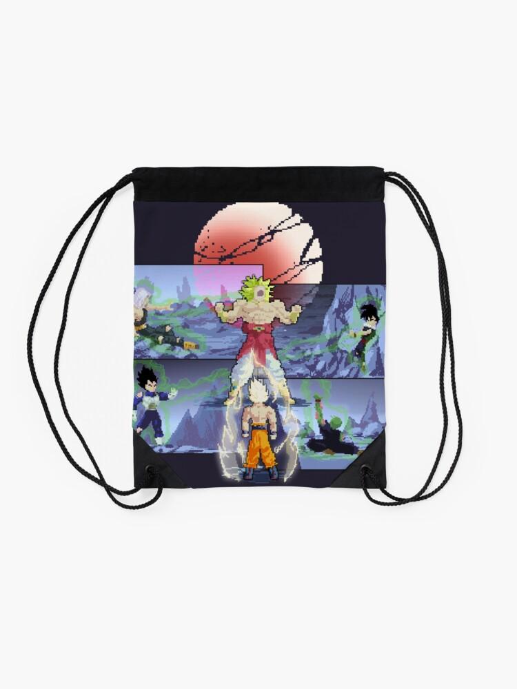 Broly Pixel Art Drawstring Bag