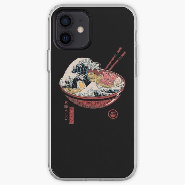 Grande vague de ramen Coque souple iPhone