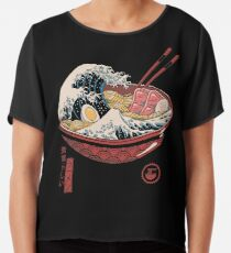 Great Ramen Wave Chiffon Top