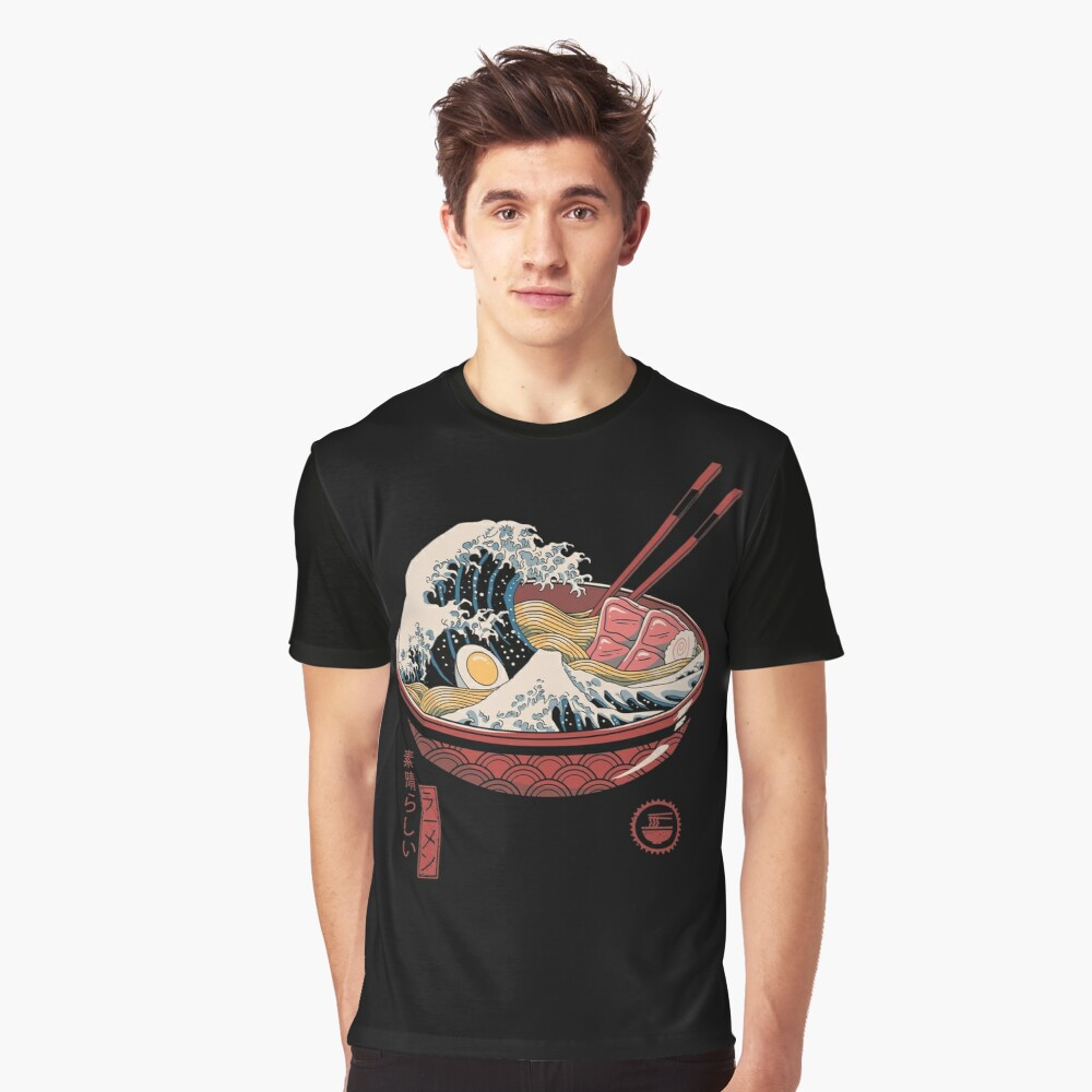 Great Wave Ramen Kid/'s T-Shirt