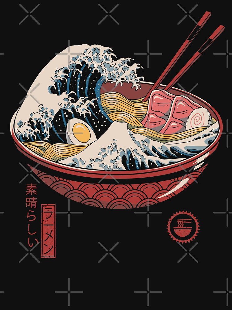 Great Ramen Wave by vincenttrinidad