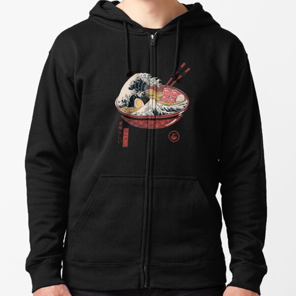 Great Ramen Wave Zipped Hoodie