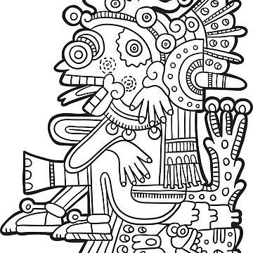 Inca Maya Aztec deity 3 by Smaragdas