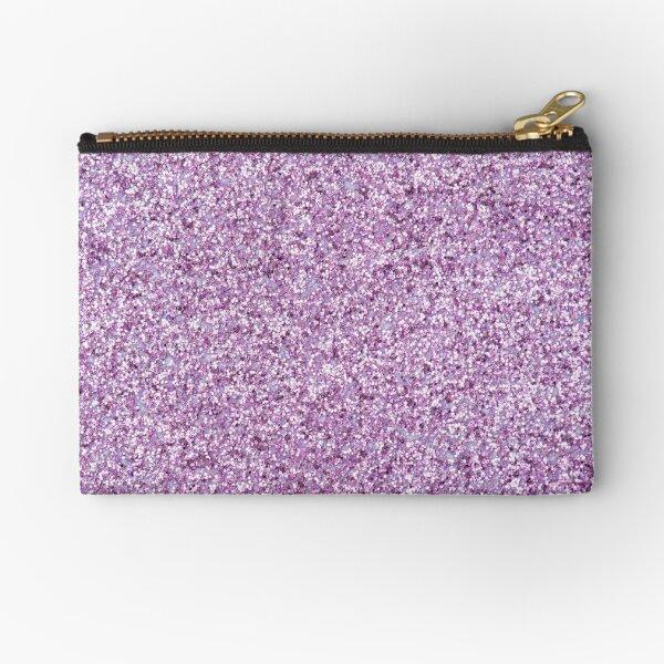 Light Purple Glitter Zipper Pouch