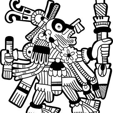 Aztec Deity by Smaragdas