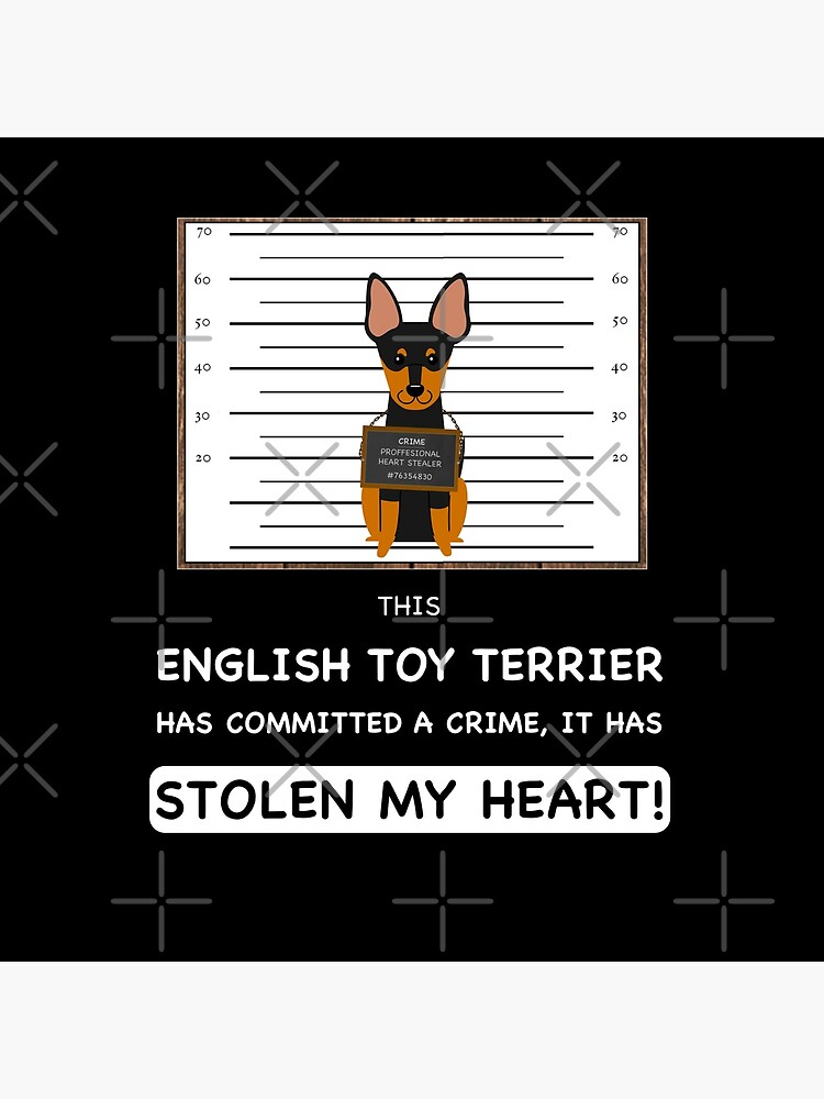English Toy Terrier Mugshot - Funny English Toy Terrier Gift For Dog Lover by dog-gifts