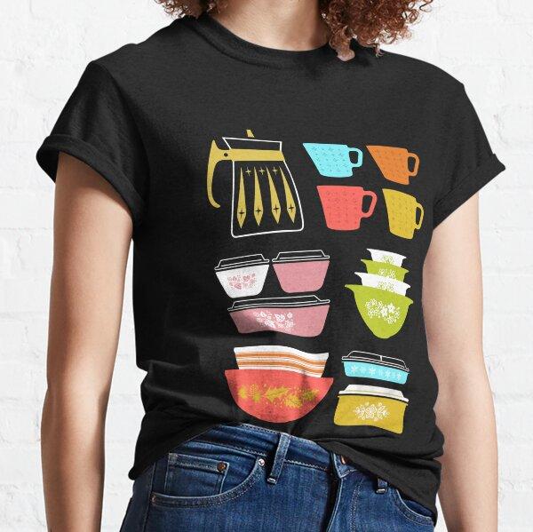 Pretiles Pyrex - Utensilios de cocina de vidrio vintage Camiseta clásica
