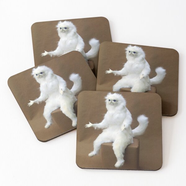Persian Cat Room Guardian Coasters (Set of 4)