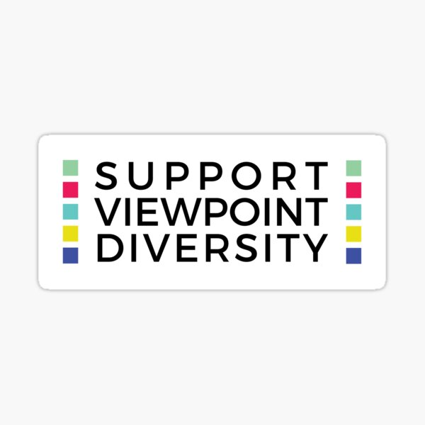 Support Viewpoint Diversity Sticker