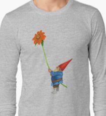 Gnome with Mexican Sunflower Long Sleeve T-Shirt