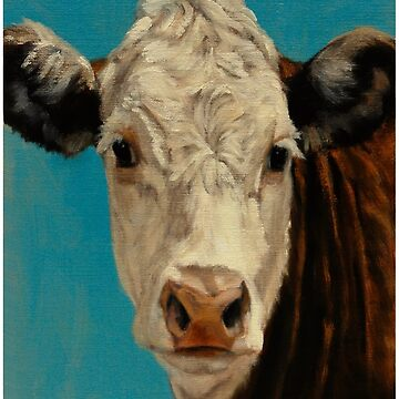 Hereford Cow - Cute Cow - Cow Painting - Hereford Cow Painting - Gift For Cow Lovers - Herefore Cattle by Galvanized