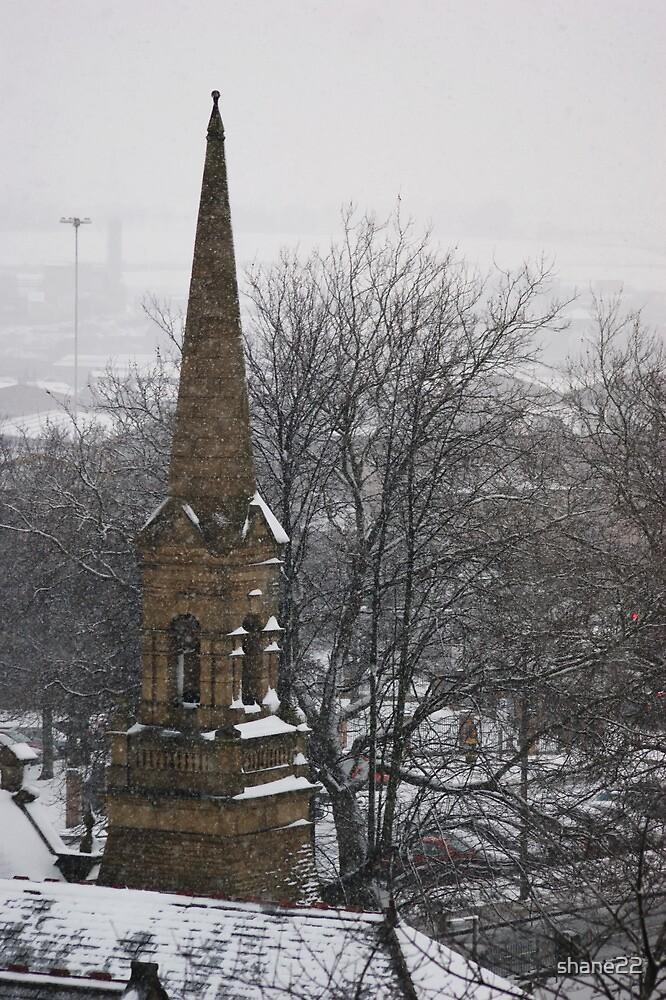 Church Steeple in Snow by shane22