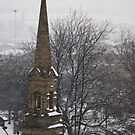 Church Steeple in Snow by shane22