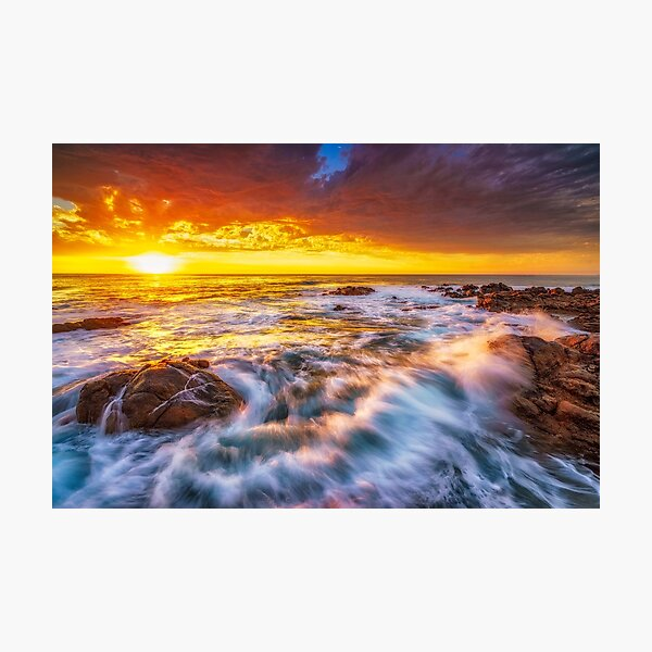 Smith's Beach Sunset Photographic Print