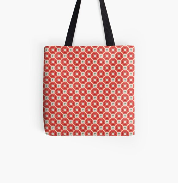 Bits of Orange Pattern All Over Print Tote Bag