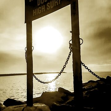 Pier Jetty Closed Sign  by roccoyou