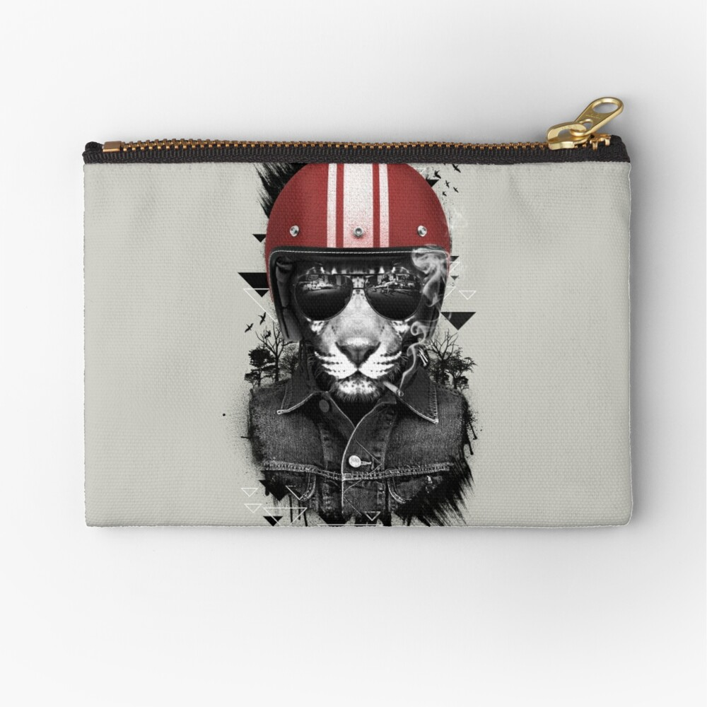 Jungle Rider Zipper Pouch