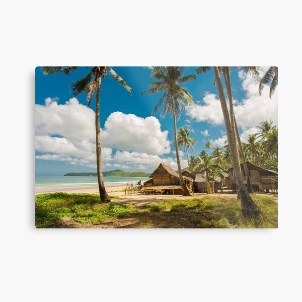 Elnido, Palawan, Philippines - Beach Village Metal Print