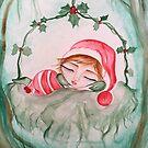 Santa's sleepy helper by MarleyArt123
