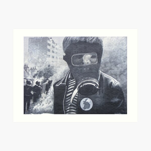 Just a child in the Battle of the Bogside Art Print