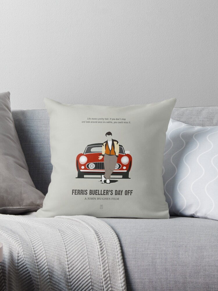 Ferris Bueller/'s Day Off Movie SAVE FERRIS Sign Printed Throw Pillow Many Sizes