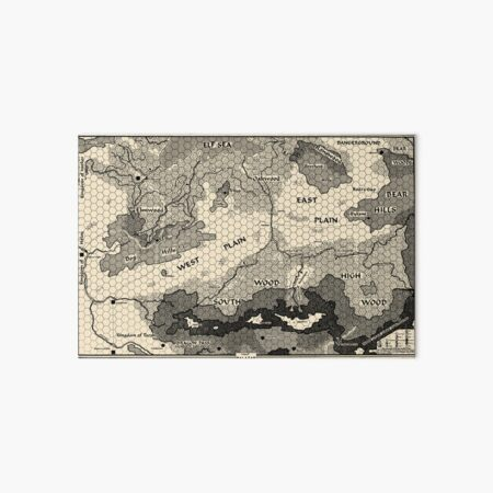 Map of Balazar (Griffin Mountain) Art Board Print