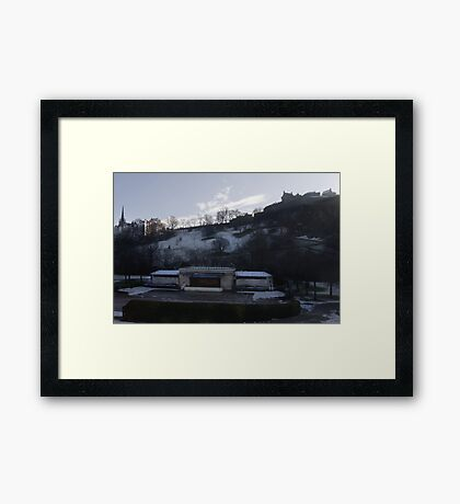 The Ross Band Stand and Edinburgh Castle Framed Print