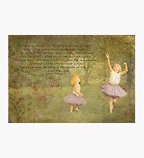 Garden Fairies Photographic Print