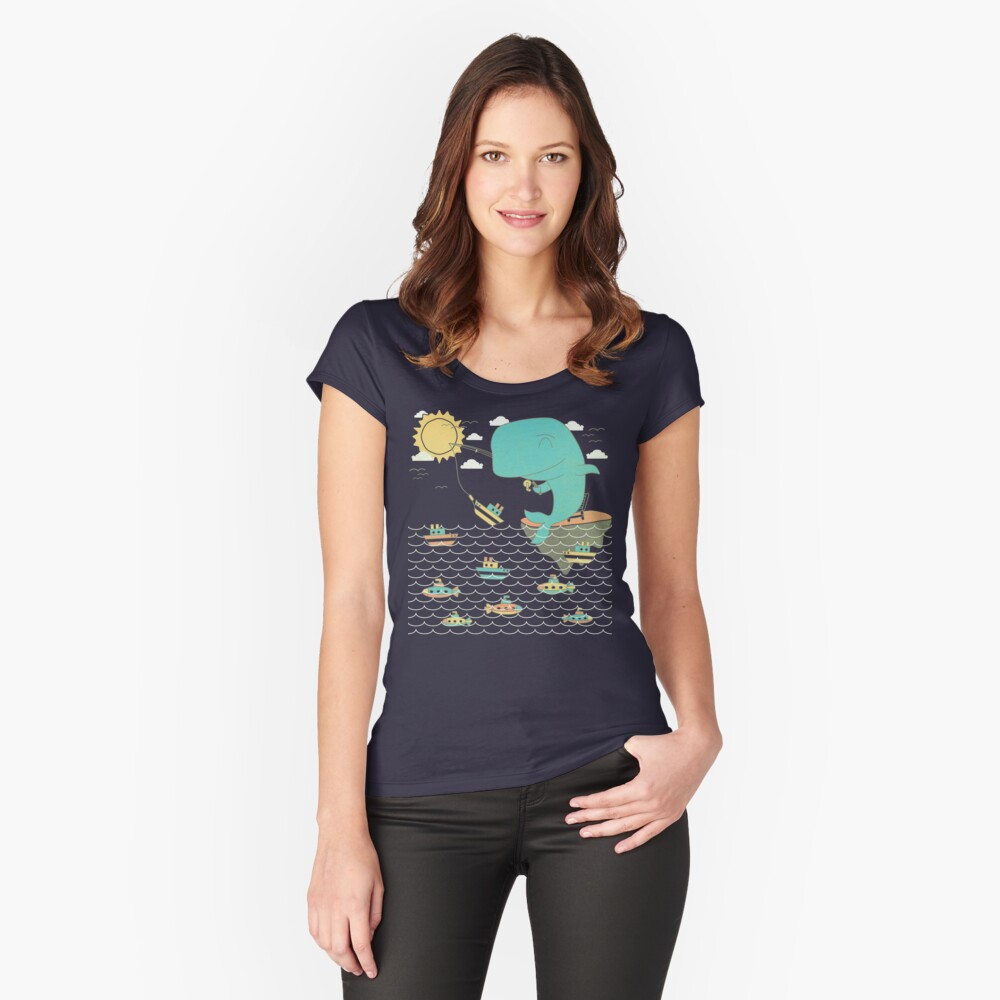 Gone Shipping Women's Fitted Scoop T-Shirt Front