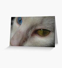 Both Eyes Greeting Card