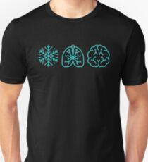 Snowflake Lungs Brain Wim Hof Method Unisex T-Shirt
