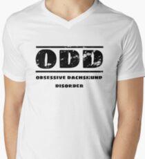 Dachshund Obsessed ODD Men's V-Neck T-Shirt