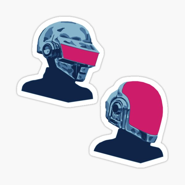 T-Bang and Guy-Man Retrowave Sticker