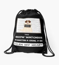 Moscow Watch Mugshot - Funny Moscow Watchdog Gift For Dog Lover Drawstring Bag