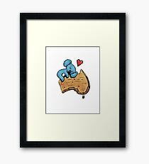 Cute Sleeping Koala on Australia Framed Print