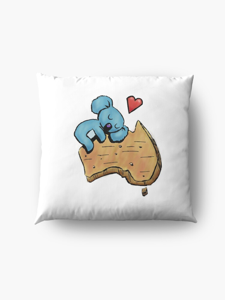 Alternate view of Cute Sleeping Koala on Australia Floor Pillow