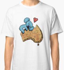 Cute Sleeping Koala on Australia Classic T-Shirt