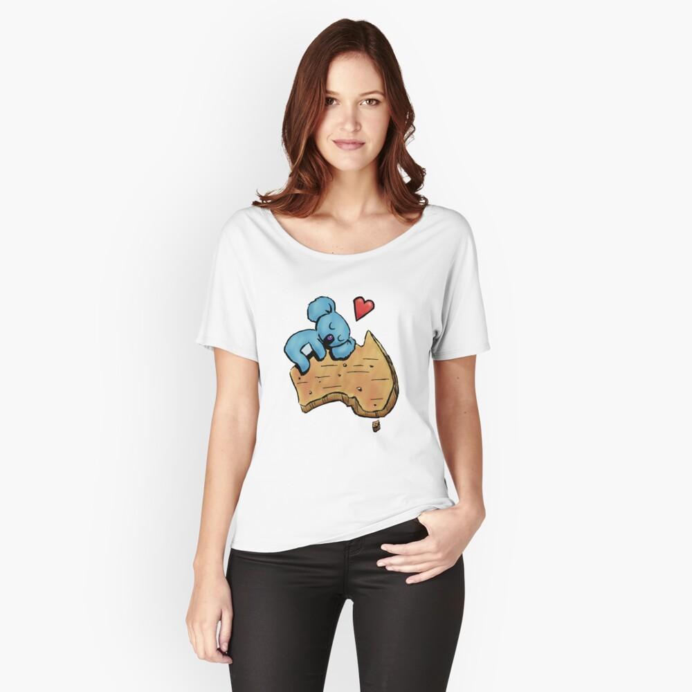 Cute Sleeping Koala on Australia Relaxed Fit T-Shirt