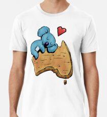 Cute Sleeping Koala on Australia Premium T-Shirt