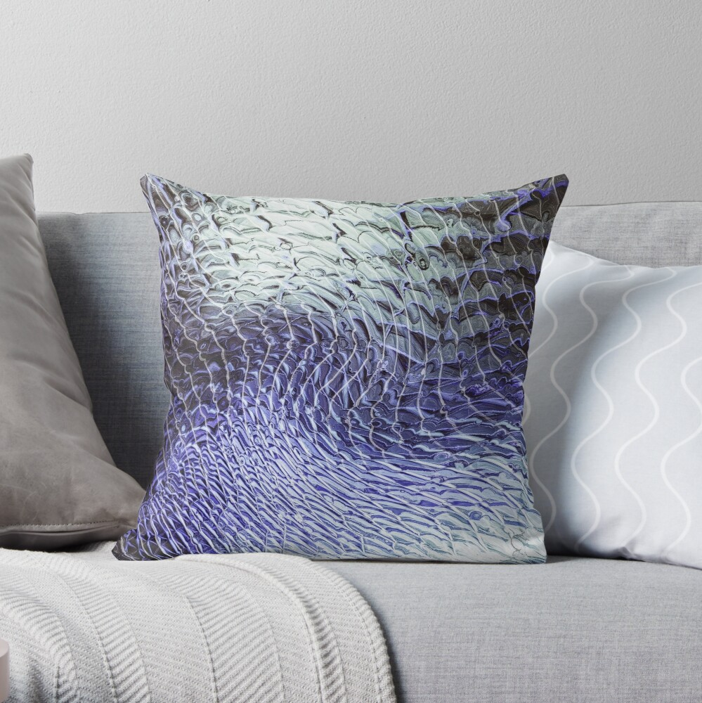 Layers In Motion Throw Pillow