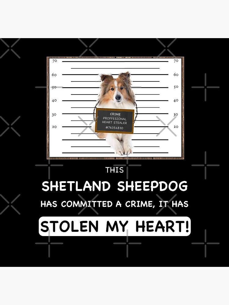 Shetland Sheepdog Mugshot - Funny Shetland Sheepdog Gift For Dog Lover by dog-gifts
